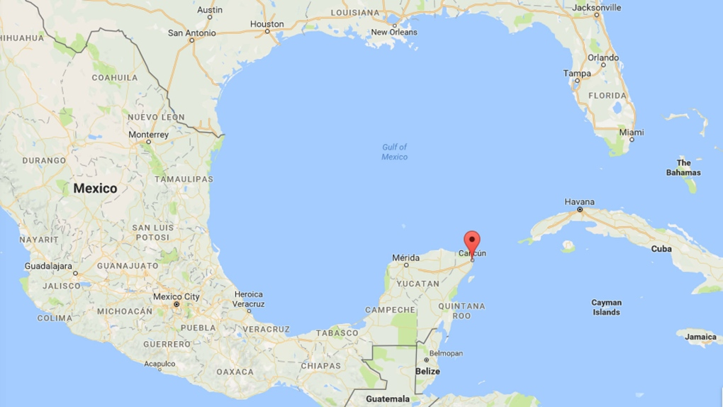 cancun in mexico map Canadian Man 33 Detained In Death Of Woman 23 In Cancun Mexico Report Cp24 Com cancun in mexico map