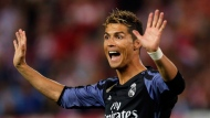 Real Madrid's Cristiano Ronaldo gestures during a Champions League semifinal, 2nd leg soccer match between Atletico de Madrid and Real Madrid, in Madrid, Spain, Wednesday, May 10, 2017 . (AP Photo/Daniel Ochoa de Olza)