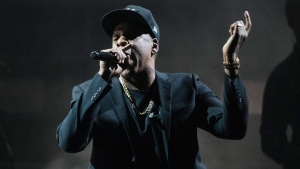 In this Nov. 4, 2016, file photo, Jay Z performs during a campaign rally for Democratic presidential candidate Hillary Clinton in Cleveland. Jay Z has signed a $200 million, 10-year deal with tour promoter Live Nation. (AP Photo/Matt Rourke, File)