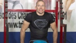 UFC welterweight champion Georges St.-Pierre takes a break during training on Monday, October 28, 2013. THE CANADIAN PRESS/Ryan Remiorz