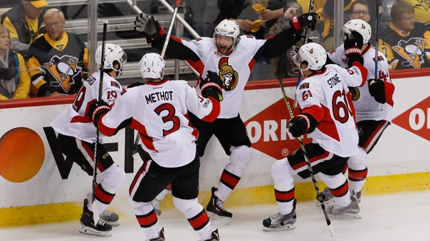 Penguins draw even in series against Senators