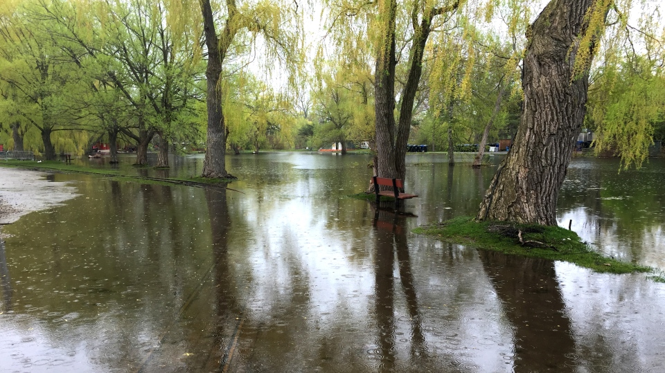 Centreville on Toronto Island is one of many areas affected by flooding. (Danny Pinto/CTV News Toronto)