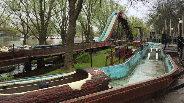 Centreville, an amusement park on Toronto Island, has been closed due to flooding. (Danny Pinto/ CTV News Toronto)