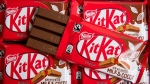A four finger KitKat bar is photographed in London Wednesday May 17, 2017. (Dominic Lipinski / PA Wire / PA via AP)