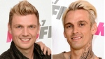"In this combination photo, Nick Carter, left, of the Backstreet Boys and his singer brother Aaron Carter appear at Wango Tango on May 13, 2017, in Carson, Calif. Robert Carter, the father of Nick and Aaron Carter, died Tuesday, May 16, 2017. Nick Carter said in a statement Wednesday that he was ""heartbroken to share the news that our father, Robert, passed away last night."" Aaron Carter, 29, posted a photo of his dad on Instagram on Wednesday.  (Photo by Richard Shotwell/Invision/AP, File)"