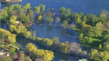 Flooding on Toronto Islands