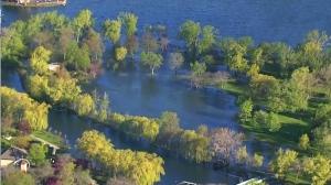 Flooding on Toronto Islands
