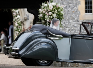 Pippa Middleton arrives for her wedding to James Matthews at St Mark's Church in Englefield, England Saturday, May 20, 2017. Middleton, the sister of Kate, Duchess of Cambridge is to marry hedge fund manager James Matthews in a ceremony Saturday where her niece and nephew Prince George and Princess Charlotte are in the wedding party, along with sister Kate and princes Harry and William. (AP Photo/Kirsty Wigglesworth, Pool)