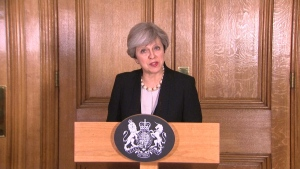 The U.K. is increasing terror threat level from severe to critical, as another attack may be imminent, British PM Theresa May says.