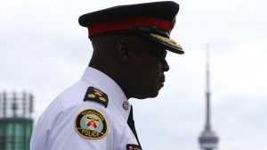 Toronto Police Chief Mark Saunders in Toronto on July 30, 2016. (Cole Burston/The Canadian Press)