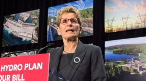 Ontario Premier Kathleen Wynne speaks during a press conference in Toronto on Thursday, March 2, 2017. THE CANADIAN PRESS/Frank Gunn