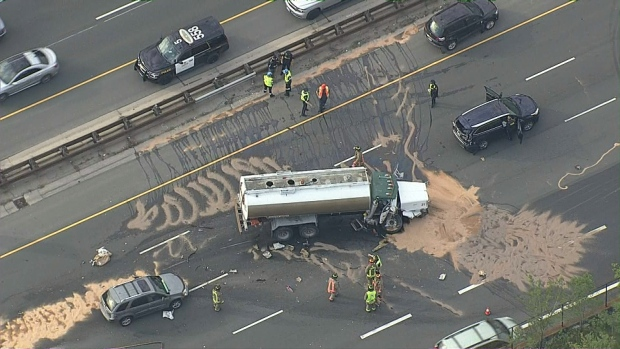 Westbound QEW closed at Hwy  427 due to crash | CP24 com