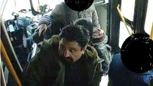 A suspect in a sexual assault investigation is shown in a surveillance camera image. (Toronto police)