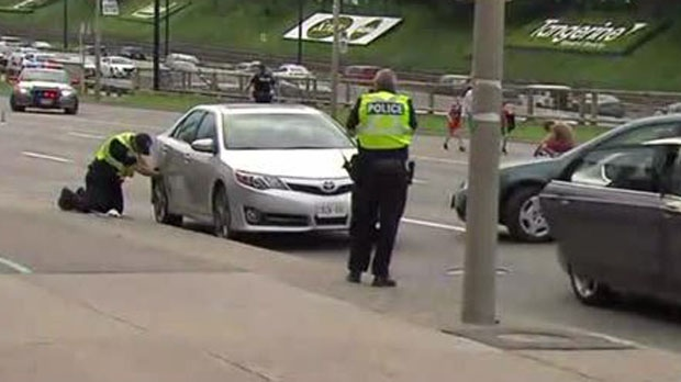 A five-year-old boy has died after he fell off his bike, onto Lake Shore Boulevard and was struck by an oncoming car, Toronto police say. (CP24)