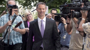 Ethics commissioner Mary Dawson has revealed that she continues to examine the conduct of Nigel Wright, former prime minister Stephen Harper's one-time chief of staff.l Wright is shown arriving at the Ottawa courthouse in Ottawa Wednesday, Aug. 19, 2015 to testify at the Mike Duffy trial. THE CANADIAN PRESS/Justin Tang