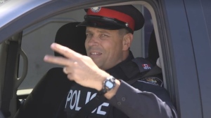 "Const. Andy Pattenden hosts ""YRP Cribs"" in a Facebook video posted May 24, 2017."