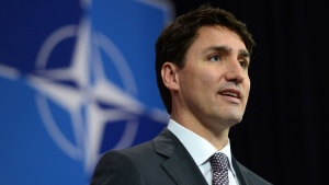 Prime Minister Justin Trudeau holds a press conference at NATO headquarters during the NATO Summit in Brussels, Belgium on Thursday, May 25, 2017. THE CANADIAN PRESS/Sean Kilpatrick