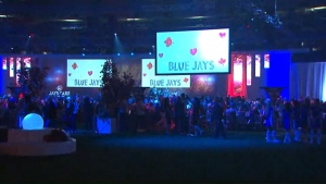 Jays Care Foundation held the Curve Ball Gala at the Rogers Centre tonight to raise $1.5 million for kids.