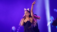 In this Aug. 26, 2015 file photo, Ariana Grande performs during the honeymoon tour concert in Jakarta, Indonesia. (AP Photo/Achmad Ibrahim, File)