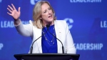 Conservative leadership candidate Lisa Raitt waves to the crowd during the opening night of the federal Conservative leadership convention in Toronto on Friday, May 26, 2017. (Nathan Denette/The Canadian Press)