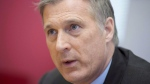 Conservative Party leadership candidate Maxime Bernier participates in an interview with the Canadian Press in Ottawa on Tuesday, May 16, 2017. In Beauce, a region of rolling hills, entrepreneurs and pick-up trucks south of Quebec City, locals say they vote for the candidate, not the political party.Since 2006, the various towns along the Chaudiere River have been represented federally by the Tories' Maxime Bernier, considered in some circles to be the front-runner to become the next Conservative leader when voting results are announced Saturday. THE CANADIAN PRESS/Justin Tang