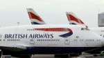 In this Tuesday, Jan. 10, 2017 file photo, British Airways planes are parked at Heathrow Airport in London. (AP / Frank Augstein)