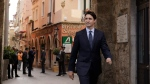 Canada's Prime Minister Justin Trudeau arrives for his G7 closing press conference, in Taormina, southern Italy, Saturday, May 27, 2017. A summit of the leaders of the world's wealthiest democracies has ended without a unanimous agreement on climate change, as the Trump administration plans to take more time to say whether the U.S. is going to remain in the Paris climate deal. (AP Photo/Andrew Medichini)