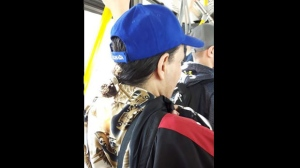 Police have released security camera images of a suspect wanted in connection with a sexual assault on a TTC bus. (Toronto Police Service handout)