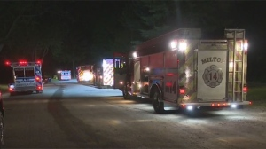 Police are investigating after a woman fell to her death off of a cliff at Rattlesnake Point in Milton.