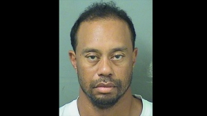 American golfer Tiger Woods has been charged with driving under the influence after he was arrested early Monday in Jupiter, Florida. (Palm Beach County Sheriff's Office)