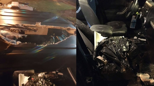 One man arrested for throwing debris off Highway 401 overpasses
