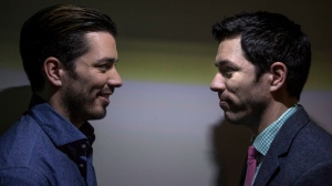 "Jonathan (left) and Drew Scott pose for a photo as they promote the new television series ""Property Brothers at Home"" in Toronto on Tuesday November 4, 2014. THE CANADIAN PRESS/Chris Young"