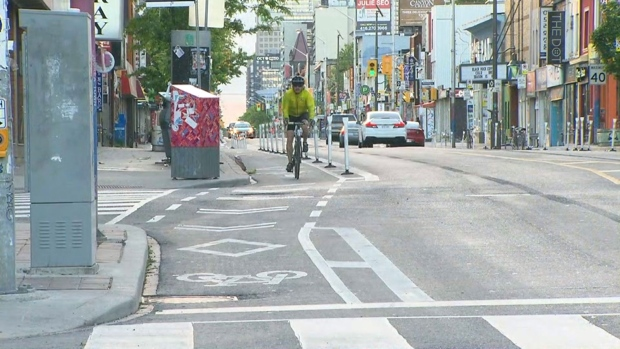 Bloor bike lanes