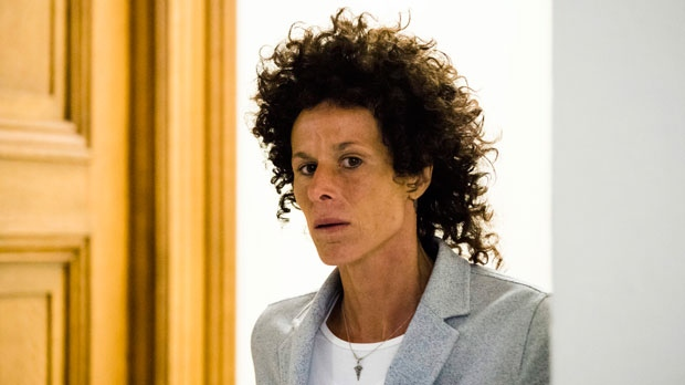 Andrea Constand walks from the courtroom after testifying at Bill Cosby's sexual assault trial at the Montgomery County Courthouse in Norristown, Pa., Tuesday, June 6, 2017. Cosby is accused of drugging and sexually assaulting Constand at his home outside Philadelphia in 2004. (AP Photo/Matt Rourke, Pool)