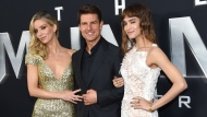"""Annabelle Wallis, from left, Tom Cruise and Sofia Boutella attend a special screening of """"The Mummy"""" at AMC Loews Lincoln Square on Tuesday, June 6, 2017, in New York. (Photo by Evan Agostini/Invision/AP)"""