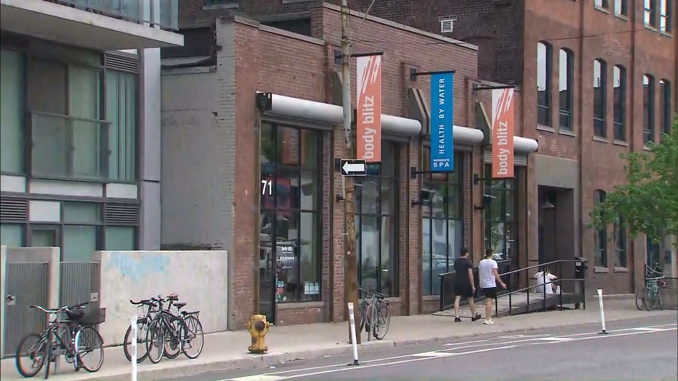 """""""Because we are a bathing suit optional environment, our current policy is to ensure all clients are comfortable in an environment with nudity, including minors,"""" Body Blitz Spa said in a Facebook post on Sunday. (CTV News Toronto)"""