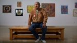 Artist Alex Janvier pictured at his gallery in Cold Lake First Nations 149B Alta, on Wednesday February 8, 2017. Alex Janvier is a pioneer of contemporary Canadian aboriginal art in Canada.THE CANADIAN PRESS/Jason Franson