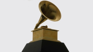 This Dec. 9, 2008 file photo shows a Grammy Award statue. The Grammys Awards are transitioning to online voting and have updated rules for its top category, album of the year. The Recording Academy announced new changes Wednesday, including its official switch to online voting for its 13,000 members. (AP Photo/Charles Rex Arbogast, File)