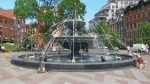 The Berczy Park fountain was redesigned by renowned Montreal landscape architect Claude Cormier who says he modeled it after the dogs who frequent the park. (CTV News Toronto)