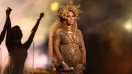 This Feb. 12, 2017, file photo shows Beyonce performing at the 59th annual Grammy Awards in Los Angeles. (Photo by Matt Sayles/Invision/AP, File)