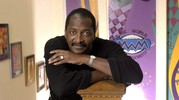 "In this Dec. 8, 2003 file photo, Mathew Knowles, father and former manager of singer Beyonce Knowles, poses at his Music World Entertainment headquarters in Houston. Knowles has launched a reality show searching for an all-girl group, ""Breaking from Above.""  The program will air on MTV channels outside of the U.S. (AP Photo/David J. Phillip, file)"