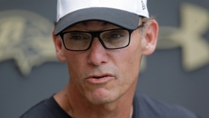 In this June 18, 2015, file photo, Marc Trestman is pictured in Owings Mills, Md.  (AP Photo/Patrick Semansky)