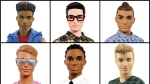 This photo combo of images provided by Mattel shows a variety of Ken dolls now available from Mattel. (Courtesy of Mattel via AP)