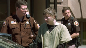 "In a May 4, 2006 file photo, Brendan Dassey, center, is lead out of the Manitowoc County Courthouse following his motion hearing in Manitowoc, Wis. A three-judge panel from the 7th Circuit on Thursday, June 22, 2017 affirmed that Dassey, a Wisconsin inmate featured in the Netflix series ""Making a Murderer"" was coerced into confessing and should be released from prison. Dassey was sentenced to life in prison in 2007 in photographer Teresa Halbach's death two years earlier.  (Eric Young/Herald-Times Reporter via AP, File)"