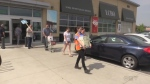 Customers stock on Thursday, June 22, 2017 up ahead of a possible LCBO strike on Monday. (Marek Sutherland / CTV London)