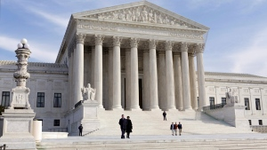 This Jan. 25, 2012, file photo, shows the U.S. Supreme Court Building in Washington. The Supreme Court has almost certainly decided what to do about President Donald Trump's travel ban affecting citizens of six mostly Muslim countries. (AP Photo/J. Scott Applewhite, File)