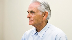 In this Oct. 4, 2012, file photo, Bruce Davis, a Charles Manson follower and convicted killer, waits moments before the start of his parole hearing at the California Men's Colony in San Luis Obispo, Calif. California Gov. Jerry Brown has blocked parole for Davis. Brown's rejection issued late Friday night, June 23, 2017, is the fifth time Davis has been recommended for parole by a state panel only to see it blocked by a governor. In February, the parole panel recommended the 74-year-old Davis be released. (Joe Johnston/The Tribune (of San Luis Obispo) via AP, File)