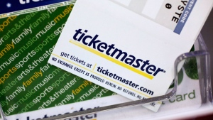 In this May 11, 2009 file photo, Ticketmaster tickets and gift cards are shown at a box office in San Jose, Calif. (AP Photo/Paul Sakuma, File)