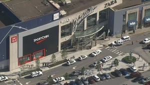 A male is seriously injured in a stabbing inside Yorkdale Shopping Centre on Monday evening, Toronto police say. (CP24)