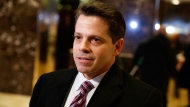 In this Jan. 13, 2017 file photo, Anthony Scaramucci, a senior adviser to President-elect Donald Trump, talks to reporters in the lobby of Trump Tower in New York. (AP Photo/Evan Vucci, File)